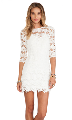 Tularosa Mindy Dress in Ivory Lace