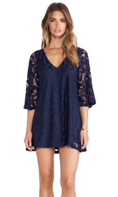 Tularosa Charlotte Dress in Navy