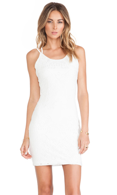Tularosa Shadow Slip Dress in White