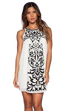 Tularosa Roman Applique Mini Dress in Ivory