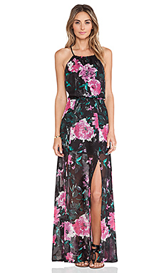 Tularosa Bella Maxi Dress in Dark Floral