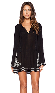 Tularosa Audrey Embroidery Dress in Black