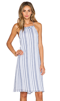 Tularosa Windsor Dress in Blue & White