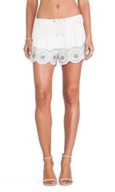 Tularosa Simone Embellished Short in Ivory