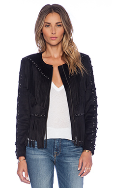 Tularosa Dallas Fringe Jacket in Black