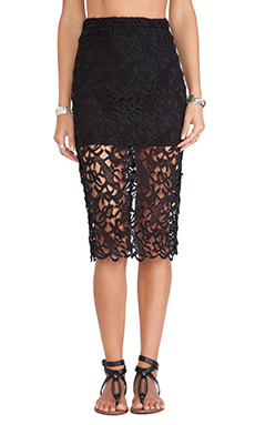 Tularosa Free Midi Skirt in Black