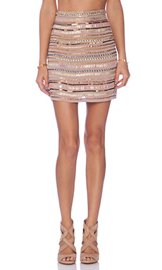 Tularosa x REVOLVE Crystal Skirt in Blush
