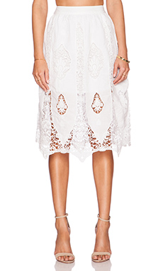 Tularosa Luella Skirt in White