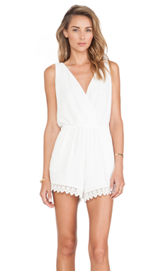 Tularosa Everly Romper in Ivory