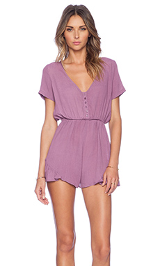 Tularosa Saturn Romper in Vintage Berry