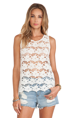 Tularosa Riley Tank in Ivory Lace