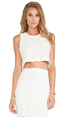 Tularosa Beau Crop Top in Ivory