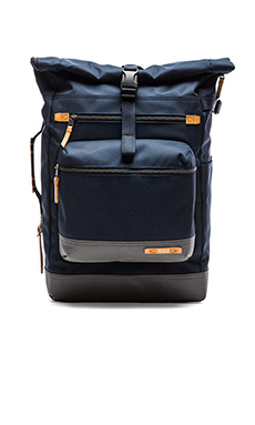 Tumi Dalston Ridley Roll Top Backpack in Navy