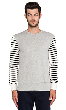 TIMO WEILAND Ben Crewneck Sweatshirt in Grey
