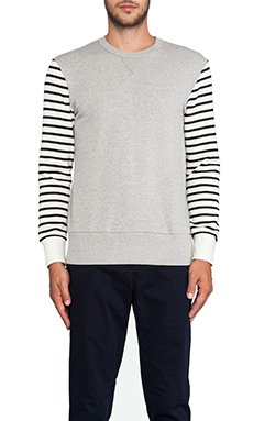 TIMO WEILAND Ben Crewneck Sweatshirt in Grey