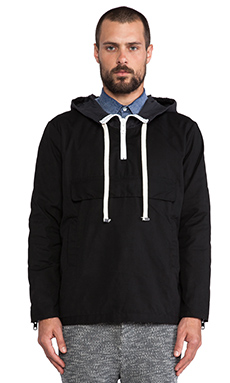 TIMO WEILAND Anorak in Black & Navy