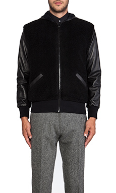 TIMO WEILAND Greg Combo Hooded Jacket in Black