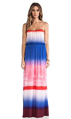Twelfth Street By Cynthia Vincent Contrast Maxi in Desert Sky