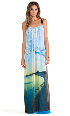 Twelfth Street By Cynthia Vincent Multi Strap Maxi Dress in La Jolla Cove