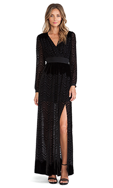 Twelfth Street By Cynthia Vincent Long Sleeve Maxi Dress in Black