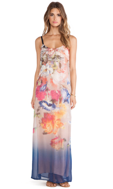 Twelfth Street By Cynthia Vincent Classic Maxi Dress in Portrait Floral