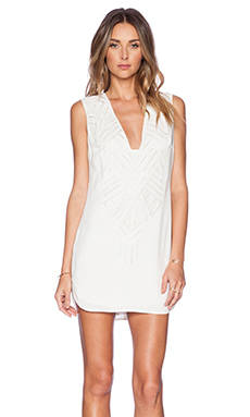 Twelfth Street By Cynthia Vincent Cut-Out Embroidered Dress in White