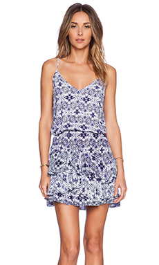 Twelfth Street By Cynthia Vincent Ruffle Hem Mini Dress in Evil Eye Print