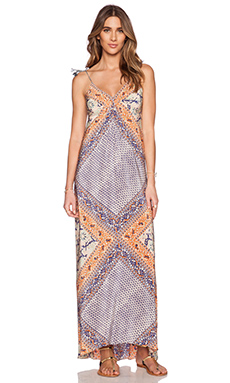 Twelfth Street By Cynthia Vincent Empire Maxi Dress in Patchwork Scarf