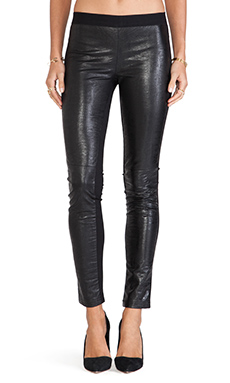 Twelfth Street By Cynthia Vincent Faux Leather Legging in Black