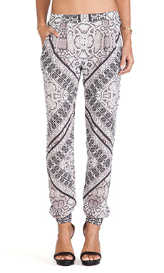 Twelfth Street By Cynthia Vincent Jogger Pants in Border Snake