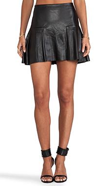 Twelfth Street By Cynthia Vincent Dreja Faux Leather Mini Skirt in Black