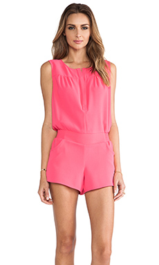 Twelfth Street By Cynthia Vincent Button Back Romper in Glow