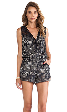 Twelfth Street By Cynthia Vincent Gym Short Romper in Black