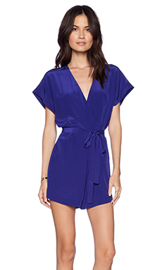 Twelfth Street By Cynthia Vincent Painter Smock Romper in Purple
