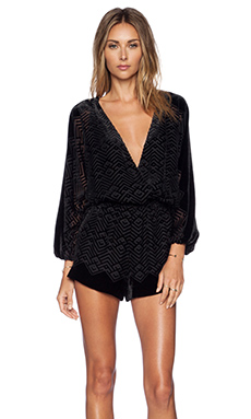 Twelfth Street By Cynthia Vincent Long Sleeve Romper in Black