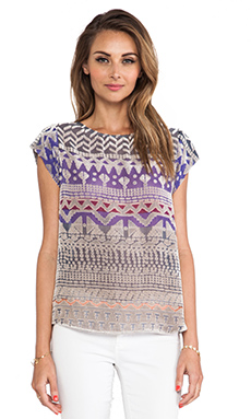 Twelfth Street By Cynthia Vincent Classic Tee Shirt in Grey