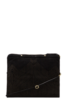 Cynthia Vincent Bankers Clutch in Black