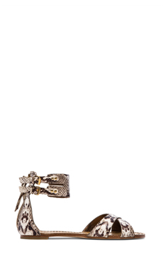 Twelfth Street By Cynthia Vincent Laura Snake Gladiator Sandals in Snake