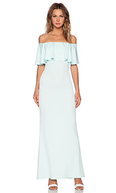 Twin Sister Big Frill Maxi Dress in Mint
