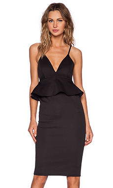 Twin Sister Cami Peplum Dress in Black