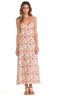 Tysa V-Neck Layering Maxi Dress in Pink Floral
