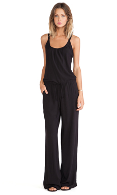 Tysa Eagle Jumpsuit in Black