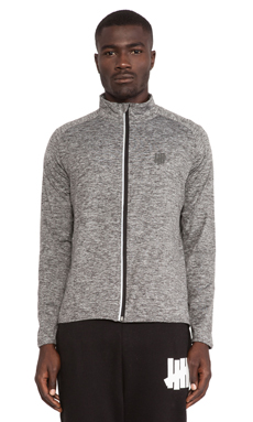 Undefeated Technical II Full Zip Jacket in Grey Heather