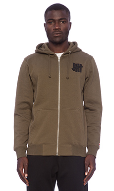 Undefeated 5 Strike Zip Up in Olive