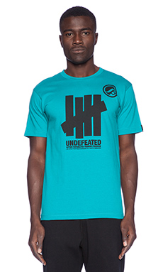 Undefeated x Shoyoroll 5 Strike Tee in Teal