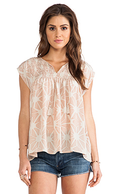 Ulla Johnson Costa Blouse en Seashell