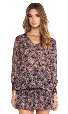 Ulla Johnson Elise Blouse in Tiny Floral