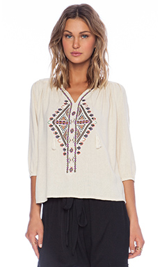 Ulla Johnson Amira Blouse in Natural