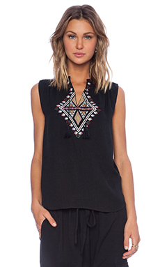 Ulla Johnson Layla Top in Jet