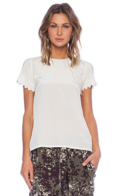 Ulla Johnson Mirabelle Blouse in Pearl